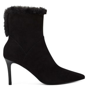 New Nine West Fhani Suede Fur Boots 9